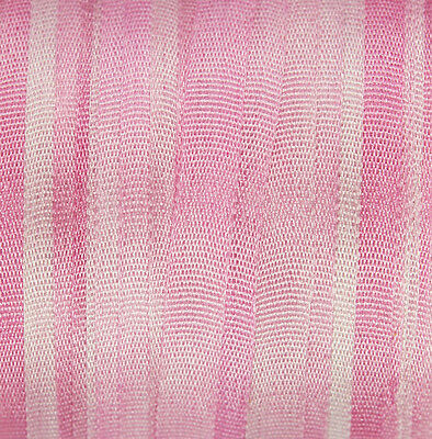 Silk Ribbon for Embroidery 4mm - 3 meters Pink