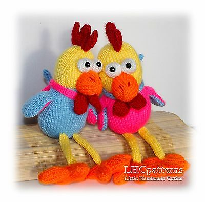 Rooster Knitted Toy Pattern. Knitted Rooster tutorial. 2017 year symbol.