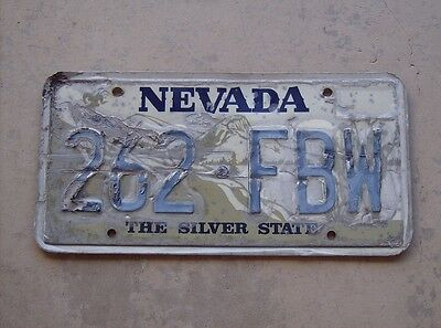 Nevada aluminum garage wall art license plate 262 FBW trashed beat exp pre 2013