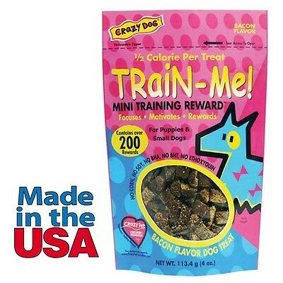 Dog Training Mini Treat Pack Bacon Flavor Rewards For Puppies Small Breed Dogs