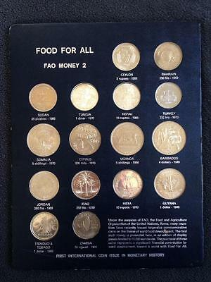 1970 FAO Blue Money Page 2 Coins of Various Nations, Including the Rare India 10