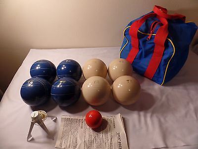 World Cup Bocce Ball Set Blue & White Balls