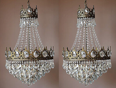 Matching Ceiling Fixture Antique French Fixture Crystal Chandelier lighting Lamp