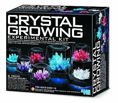 Crystal Growing Experiment 4M Science Kit for Kids Learning New Free Shipping