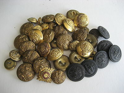 Antique Yacht Club & Military Livery Buttons Navy Army British P.Y.C. Pip Brass