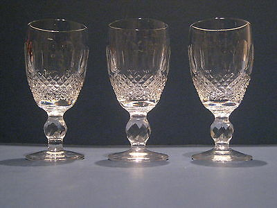 Waterford Crystal Colleen Sherry Port Glasses Short Stem Claret Champagne Wine