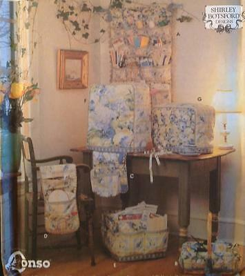 UC Simplicity 8826 Sewing Accessories Pattern Wall Organizer Machine Cover Serge