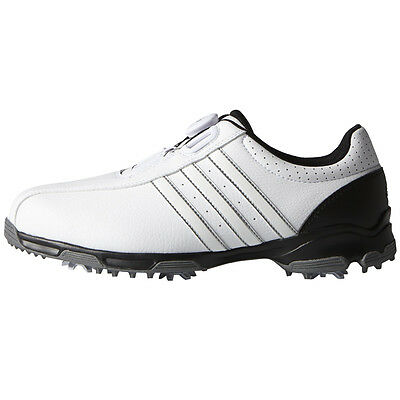 Adidas 360 Traxion Boa Mens Spiked Golf Shoes - White / Black