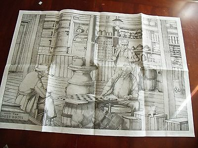 Tri Chem liquid embroidery Country Store 8399 ready to paint 24 x 36 vintage