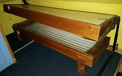 Double Canopy Sunbed - Top + Base 18 Tubes Timer Solarium Sun Tan Ready For Use