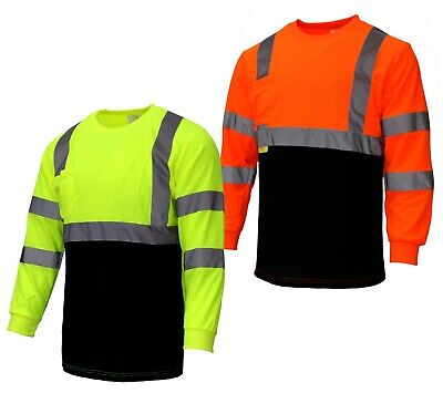 LOT, Hi Vis T Shirt Class 3 Reflective Safety Long Sleeve HIGH VISIBILITY
