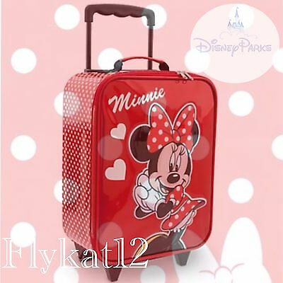 Disney Parks Exclusive Polka Dot Minnie Mouse Signature Carry On Rolling Luggage