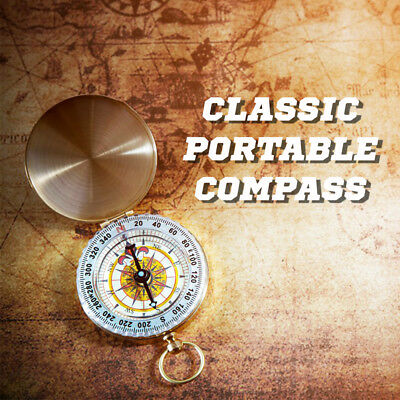 Portable Classic Compass Luminous Pocket Watch Bronzing Hiking Outdoor Camping