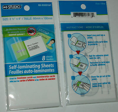 "Studio brand self-Laminating Sheets (set of 8 per package) (2.5"" X 4"")"