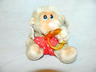 "VTG Russ 6"" plush Tan Monkey Chimp with Pacifier BABY CHEE CHEE #933 NEW w TAGS"