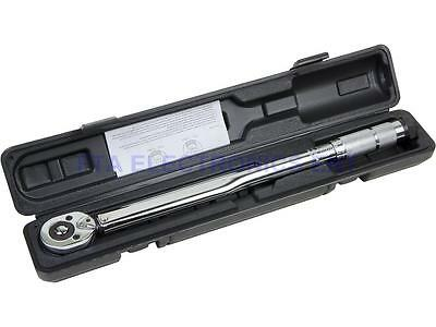 "Pro 1/2"" Drive Micrometer Adjustable Torque Wrench 10-150ftlb 28-210Nm with Case"