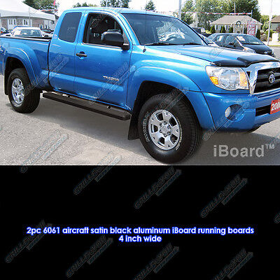"""Matte Black 4"""" iBoard Running Boards Fit 05-17 Toyota Tacoma Access Cab"""