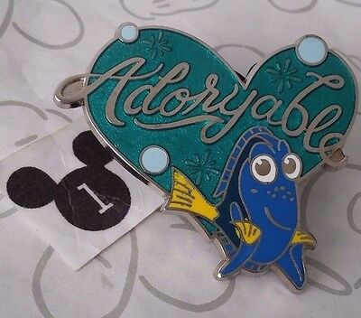 Dory Adoryable Blue Green Heart Finding Nemo 2016 Pixar Disney Pin