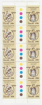 1983 'AUST FOLKLORE' GUTTER STRIP OF 10 x 27c STAMPS - MINT