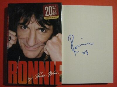 """Rolling Stones Ron Wood """"ronnie"""" Autobiography Autographed Book Signed In Person"""
