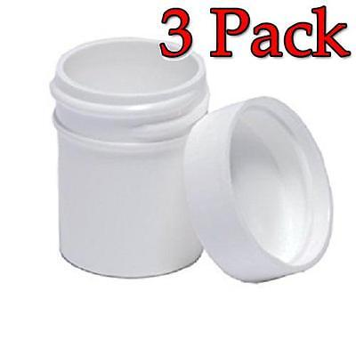 Centor Ointment Jar, Plastic White, 4oz, 12ct, 3 Pack 967050116801S2676
