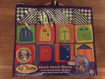 Small World Toys IQ Baby - Knock-Knock Blocks New Colorful Interactive 0-36 mo