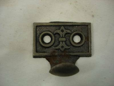 Antique Cast Iron Window Sash Pull Lift Ornate Pattern Art Crafts Deco #C