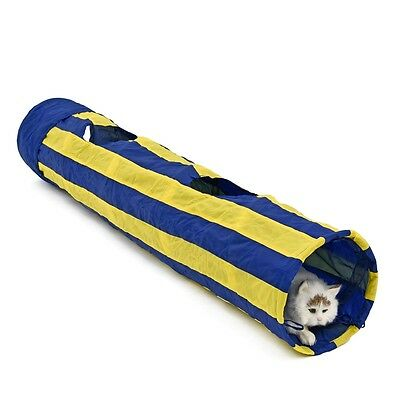 Pet Toy Cat Tunnel Tube Rabbit Kitten Cat Collapsible Teaser Hide and See Tunnel