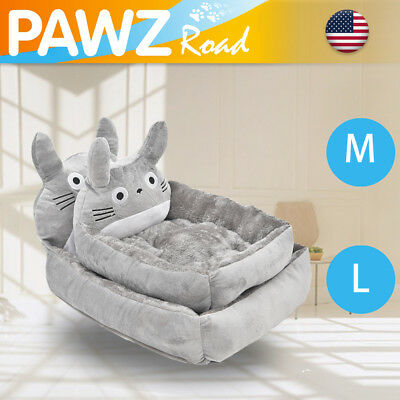 Hot Cute Pet Dog Cat Cushion Kennel Fleece Dog Bed Cat Cushion Totoro Design Bed