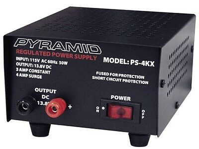 Pyramid PS-4KX Power Supply 13.8 VDC 3AMP *NEW IN BOX !
