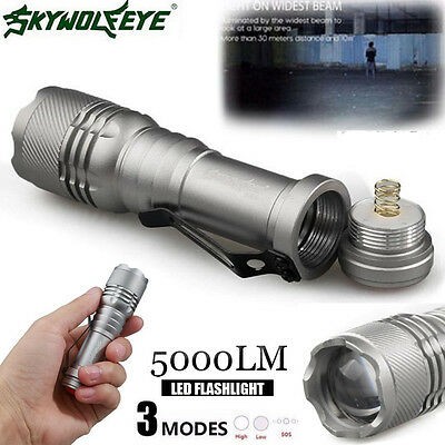 Super Bright Q5 LED 5000LM AA/14500 3 Modes Strap ZOOMABLE Flashlight Torch