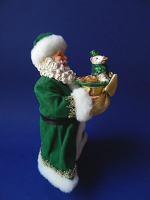 Possible Dreams Dept 56 Irish Santa with Dog Christmas Figurine Clothtique