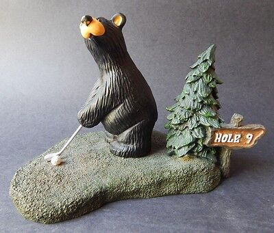 BIG SKY CARVERS ~ Retired Bearfoots Duffy Golf Bear - FLEMING ~ Numbered Edition