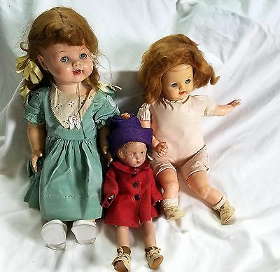 Lot of 3 Vintage/Antique Dolls
