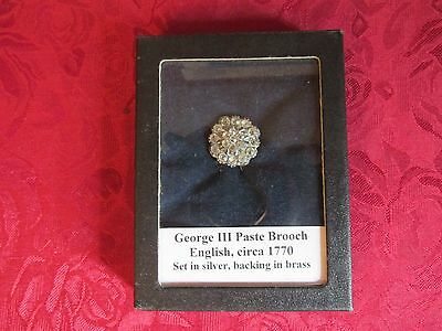 Georgian Paste BroochPin Silver Backed, Circa 1780