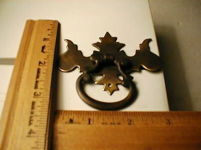ANTIQUE DRAWER PULL CHIPPENDALE item H BRASS LOOK
