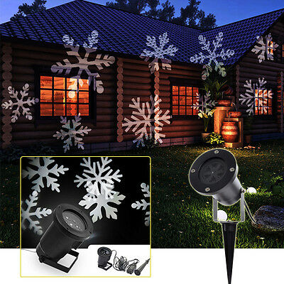 Moving Snowflake Landscape Laser Projector Christmas Party Lamp Garden LED Light