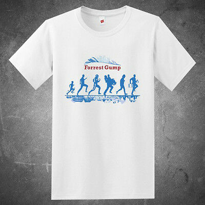 f4a7b428310 RUN FOREST RUN - Forest Gump Movie Parody Mens Funny T-Shirt Tom ...