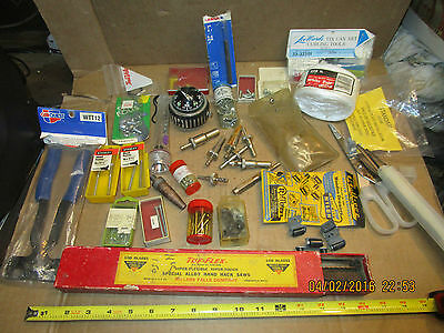 box lot of vintage tools and hardware