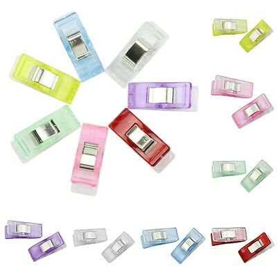 New 50Pcs Fixed Plastic Clips For Fabric Quilting Craft Sewing Knitting Crochet