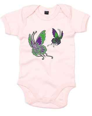 Butterflies, Printed Baby Grow
