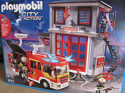 playmobil 9052 city action feuerwehr auto mega set neu ovp eur 67 90 picclick de. Black Bedroom Furniture Sets. Home Design Ideas