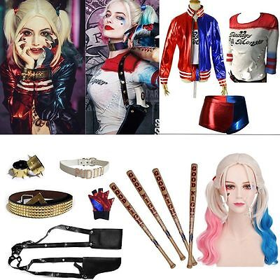 Halloween Batman Suicide Squad For Harley Quinn Cosplay Costume Accessories Lot