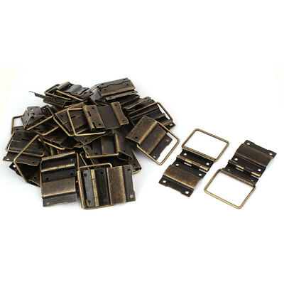 Box Case Retro Style Positioning Support Hinges Bronze Tone 51mmx34mm 30pcs