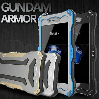 Waterproof Heavy Duty Armor Gorilla Glass Metal Case Cover For iPhone 7 7 Plus
