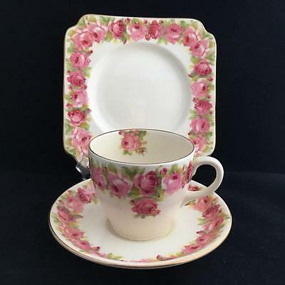 ROYAL DOULTON RABY ROSE D5533 TRIO cup saucer and plate VINTAGE