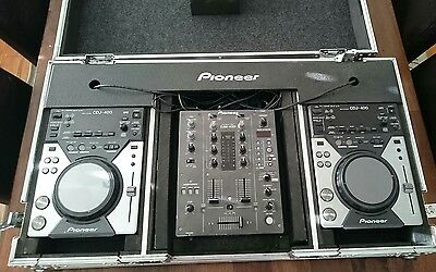 Pioneer Pro DJ 2x CDJ 400 + DJM 400 limited edition with road case