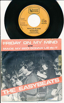 """The Easybeats 45 Tours 7"""" Hollande Friday On My Mind"""