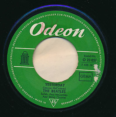 """The Beatles 45 Tours 7"""" Germany Act Naturally"""