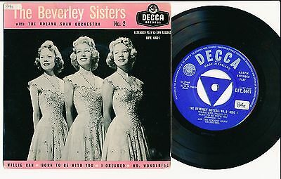 """The Beverly Sisters 45 Tours Ep 7"""" Uk Willie Can"""